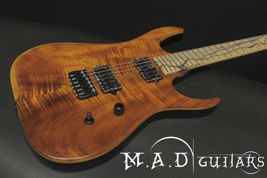 MAD Guitars Mad Machine 6 String Koa Superstrat